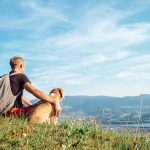 Hiking with your dog for exercise staying active